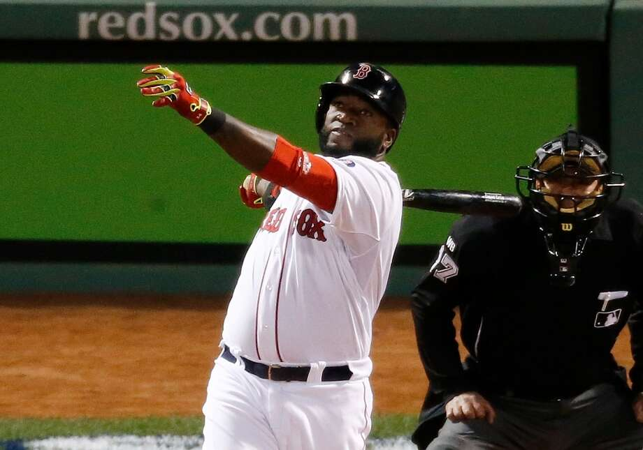 David Ortiz hits a home run in the seventh inning. Photo: Jim Rogash, Getty Images