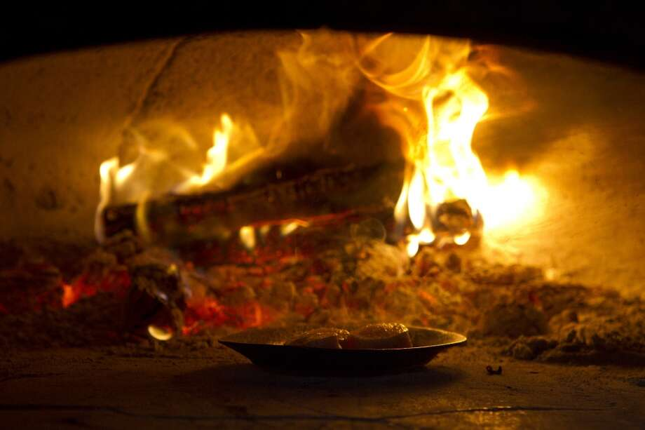 The wood-fired oven at A16. Photo: Erin Lubin, Special To The Chronicle
