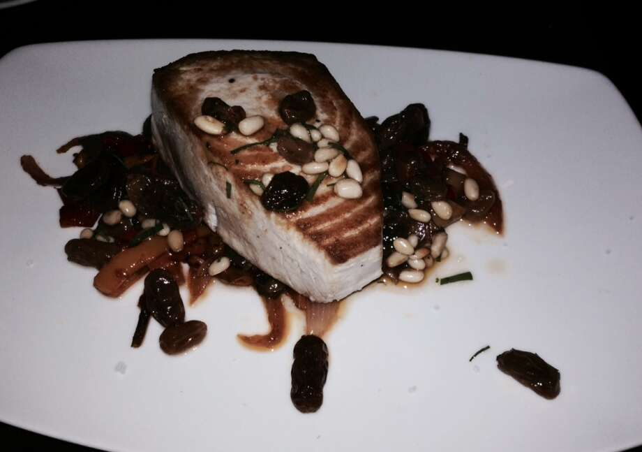 Swordfish with pine nuts ($27).