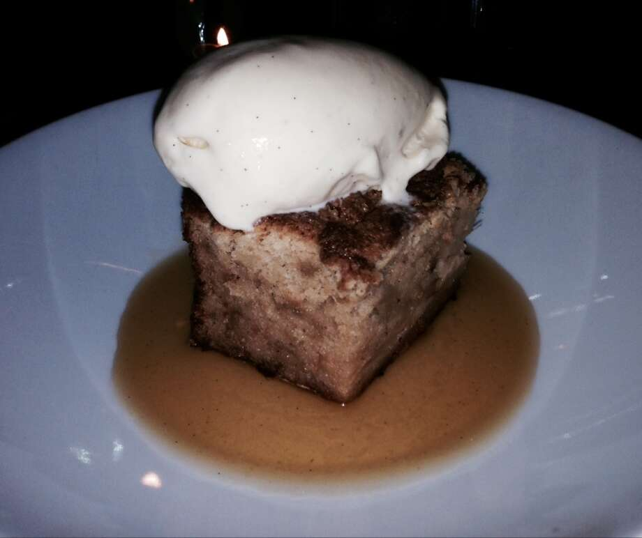 Apple bread pudding ($9).