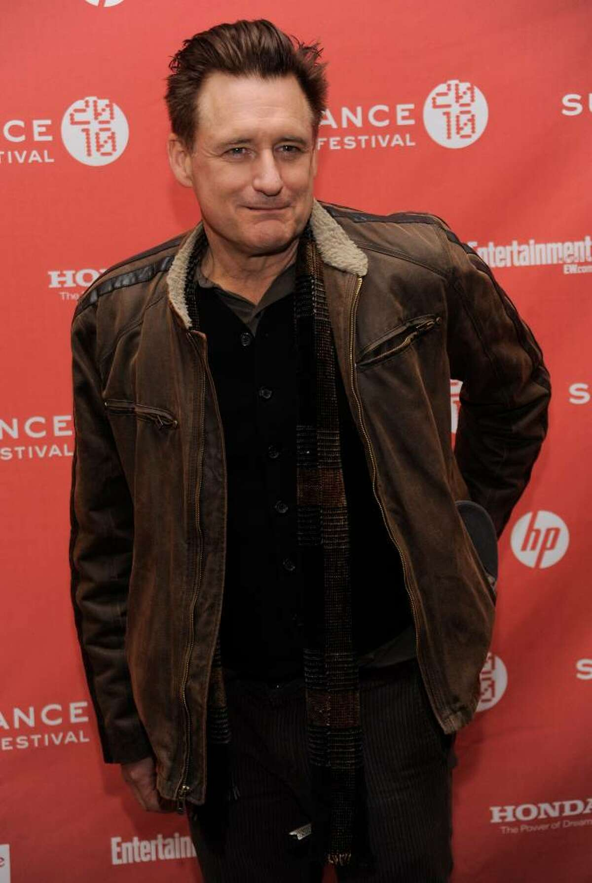 """Bill Pullman, a cast member in """"The Killer Inside Me,"""" arrives at the premiere of the film at the Sundance Film Festival in Park City, Utah, Sunday, Jan. 24, 2010. (AP Photo/Chris Pizzello)"""