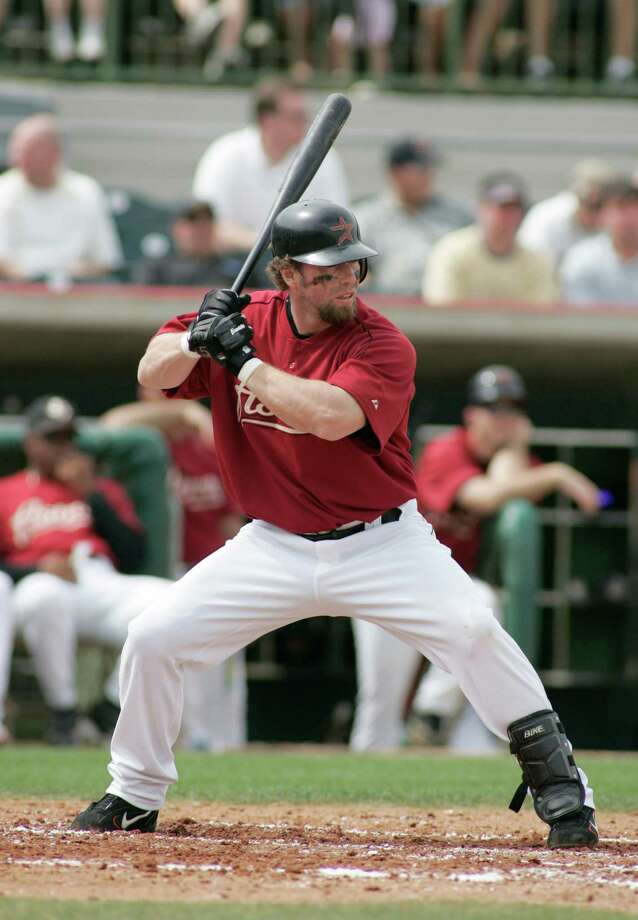 "Jeff Bagwell –  Along with Craig Biggio, Bagwell was a charter member of the Astros' ""Killer Bs"" and the National League MVP in 1994. He had six straight seasons with 30 homers, 100 runs, 100 RBIs and 100 walks. Photo: Reinhold Matay, For The Chronicle / Freelance"