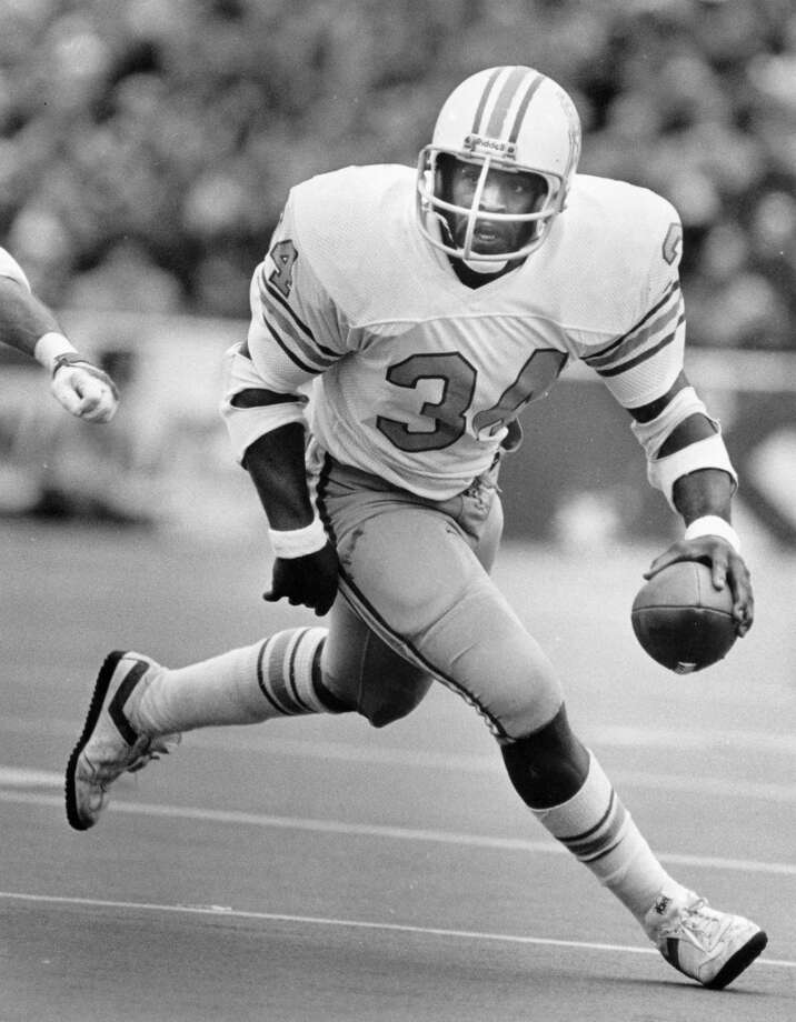 Earl Campbell –  Hercules in a helmet, the Tyler Rose won the  Heisman as a Horn, then flowered even more brilliantly as an Oiler. Photo: Steve Ueckert, Houston Chronicle