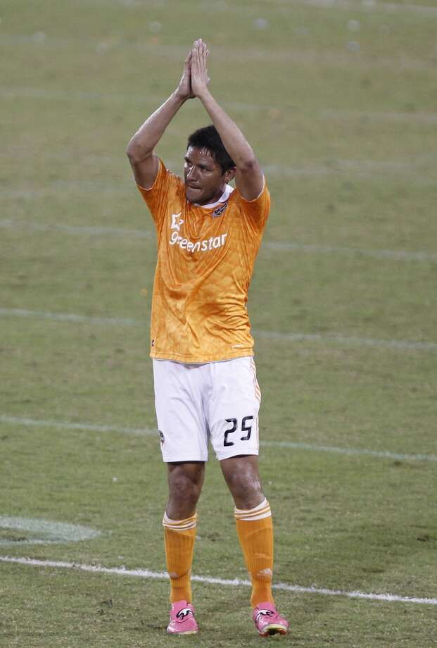 Brian Ching –  Ching came to Houston in 2006 with the San Jose Earthquakes and led the renamed Dynamo to MLS Cup titles in 2006-07. Lost in the 2012 expansion draft, he took a $200,000 pay cut to rejoin the Dynamo. The soccer icon will retire following the 2013 season. Photo: James Nielsen, Houston Chronicle