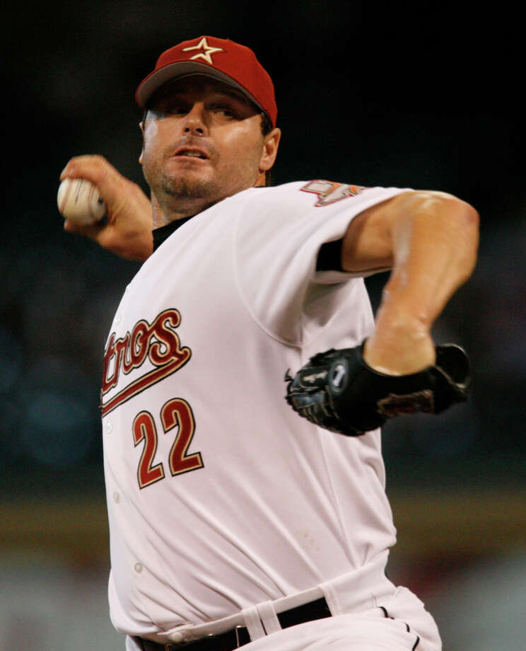 Roger Clemens – Arguably the greatest right-hander in modern history, the Rocket boosted his hometown Astros to the NLCS in 2004 and the World Series in 2005. Clemens posted a 38-18 record in his three seasons with the club. Photo: Melissa Phillip, Houston Chronicle / Houston Chronicle