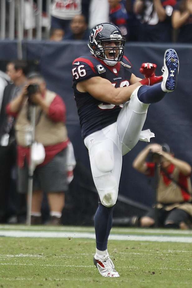 Brian Cushing – The tackling machine from USC is one of the most important players on the Texans' stellar defensive unit. Photo: Brett Coomer, Houston Chronicle