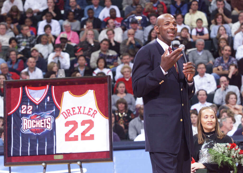Clyde Drexler –  Reared in Houston, Clyde the Glide  was cruelly deprived of a national championship as Phi Slama Jama's frat-house president, but  he gained redemption – personal and civic – years later by helping the Rockets defend their NBA title. Photo: D. Fahleson, Houston Chronicle / Houston Chronicle