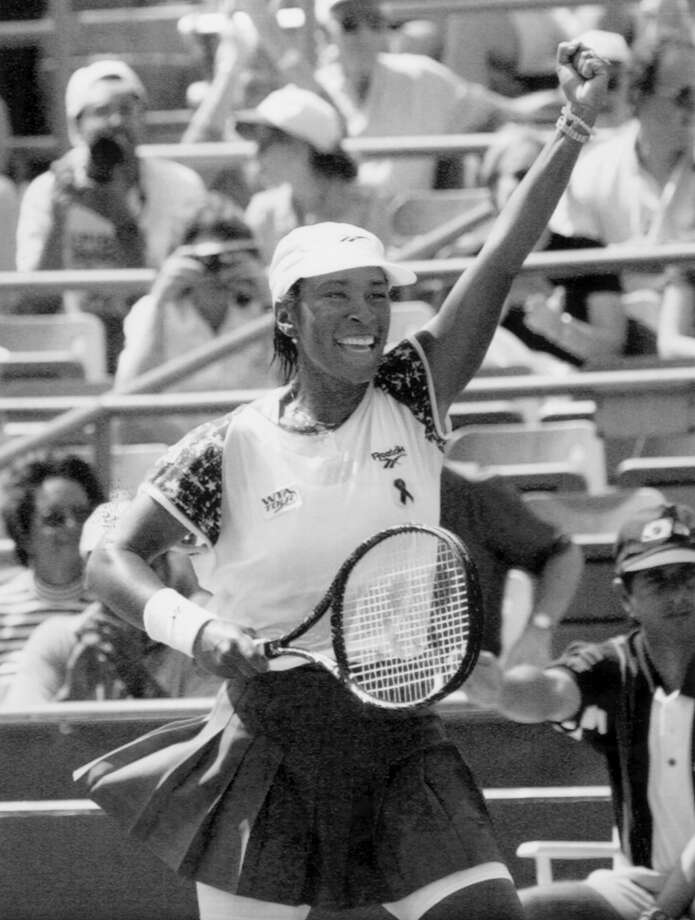 Zina Garrison – She picked up tennis at MacGregor Park, and the game took her to two Olympic medals, 34 professional championships and a berth in the 1990 Wimbledon singles finals against Martina Navratilova. Photo: Richard Drew, Associated Press / AP