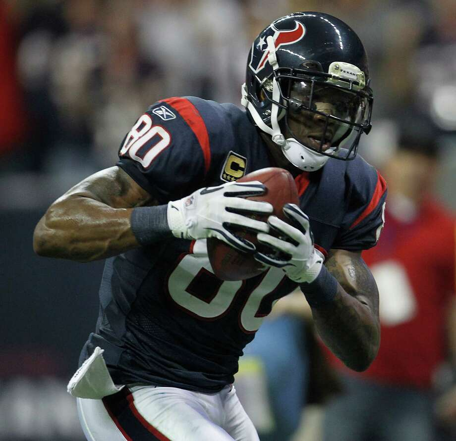 Andre Johnson –  If justice is served, 'Dre will play in a Super Bowl for the Texans before he's done. He remains a favorite face of the franchise. Photo: Karen Warren, Houston Chronicle / © 2012  Houston Chronicle