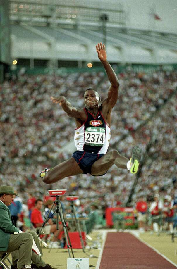 Carl Lewis – Please don't ask him to sing, but don't ever question the credentials of this University of Houston alumnus as the greatest track and field athlete in Olympic history (nine gold medals, one bronze). Photo: Lynne Sladky, Associated Press / AP