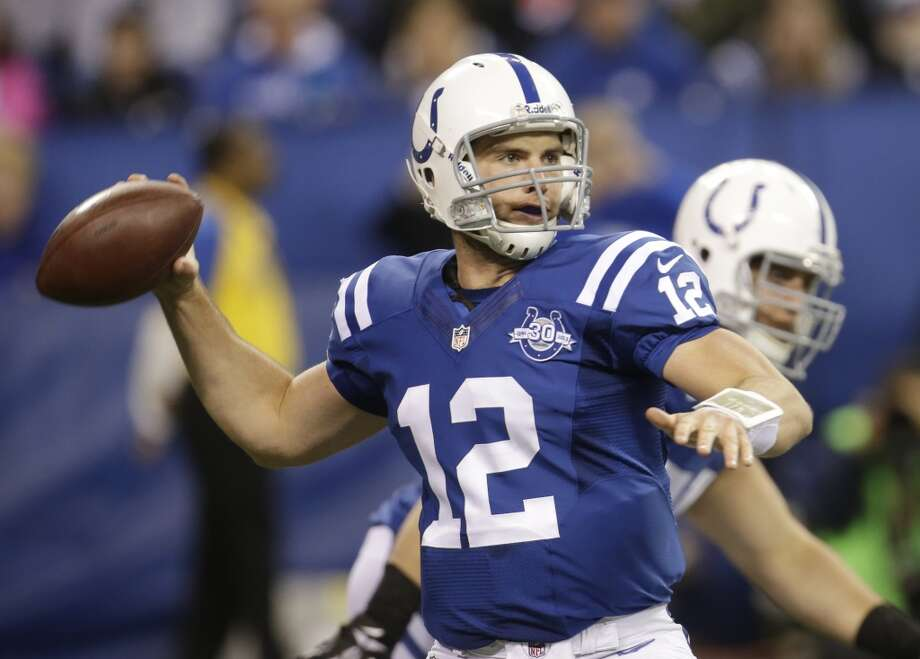 Andrew Luck – The Stratford product and son of former Oilers quarterback and Dynamo president Oliver Luck, is one of the NFL's top quarterbacks through his first five seasons. Unfortunately, he plays for the Texans' main division rival. Photo: A.J. Mast, Associated Press