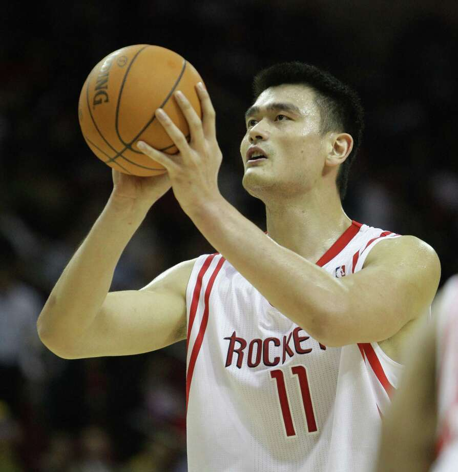Yao Ming –  A wonderful guy and a near-great player whose super-sized body betrayed him, Yao left a permanent mark on Houston. Maybe China will send him back one day to serve as consul general. Photo: Karen Warren, Houston Chronicle / Houston Chronicle
