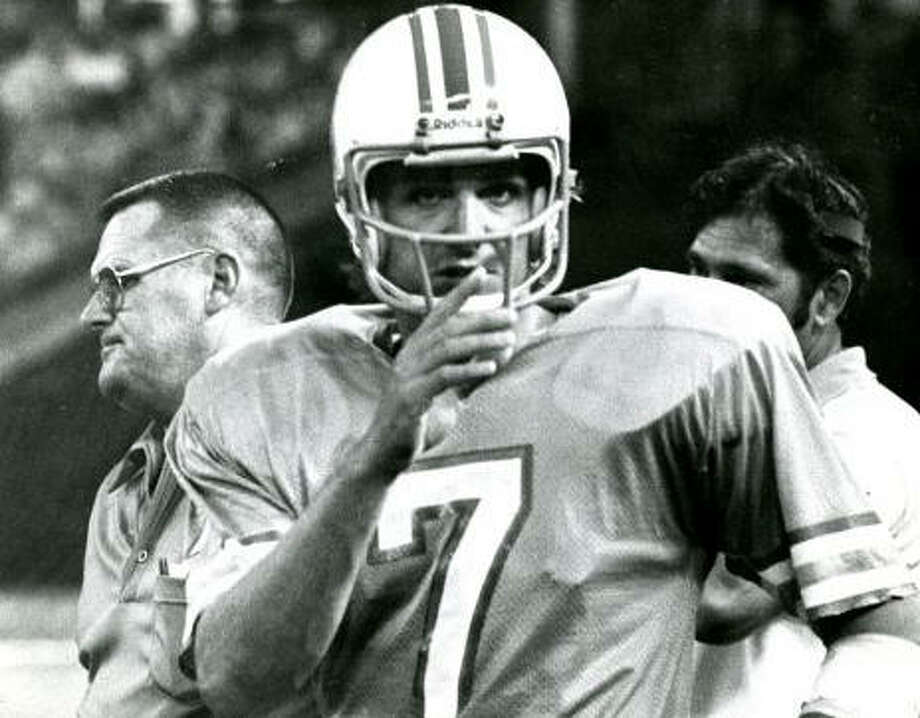 """Dan Pastorini – The man Carl Mauck called """"the fancy passin' Dago,""""  was the Oilers' starting quarterback in AFC Championship Games and, off the field, he was always an adventure waiting to happen."""