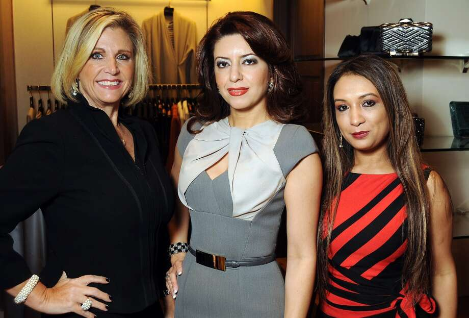 From left: Melonie Campbell, Parissa Mohajer and Shehla Rana Photo: Dave Rossman, For The Houston Chronicle
