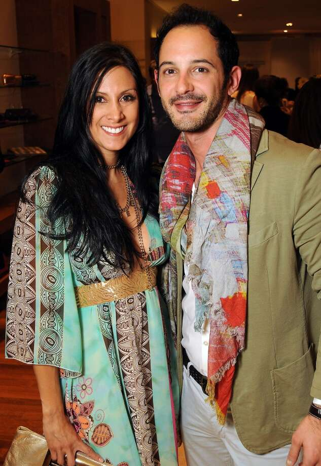 Andi Chambers and Fibrivio Comfiglio Photo: Dave Rossman, For The Houston Chronicle