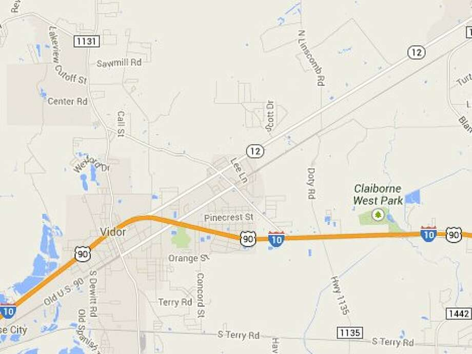 Texas 12 going into Vidor - Jeffrey Moore on Facebook Photo: Google Maps