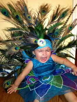A picture of my daughter Toni Rose. I worked all week on her costume. She hates it.