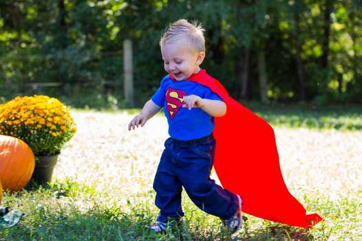 This is my Son Kaden running around in his Superman costume. He loves running with the cape on, if you take it off he is not happy with you.