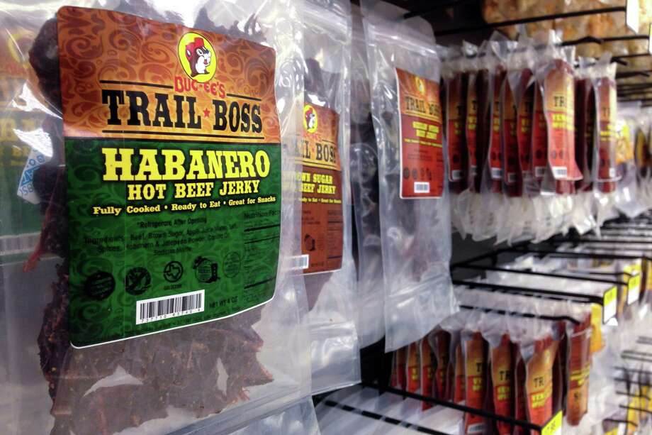 "JERKY: Nothing says ""ROAD TRIP, BRO!"" like eatin' chewy meat, and Buc-ee's has lots of it. Photo: Brett Mickelson / Brett Mickelson"