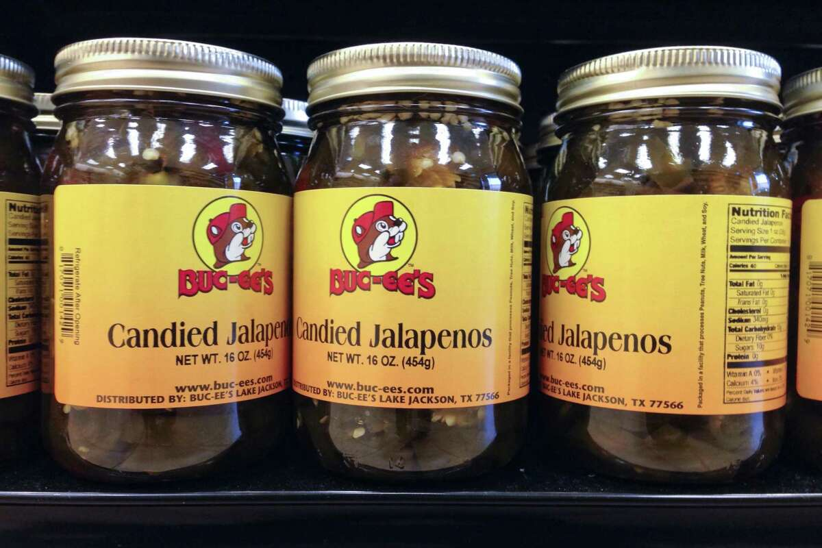 CANDIED JALAPENOS: A real Texan considers regular jalapenos candy, but these are good, too.