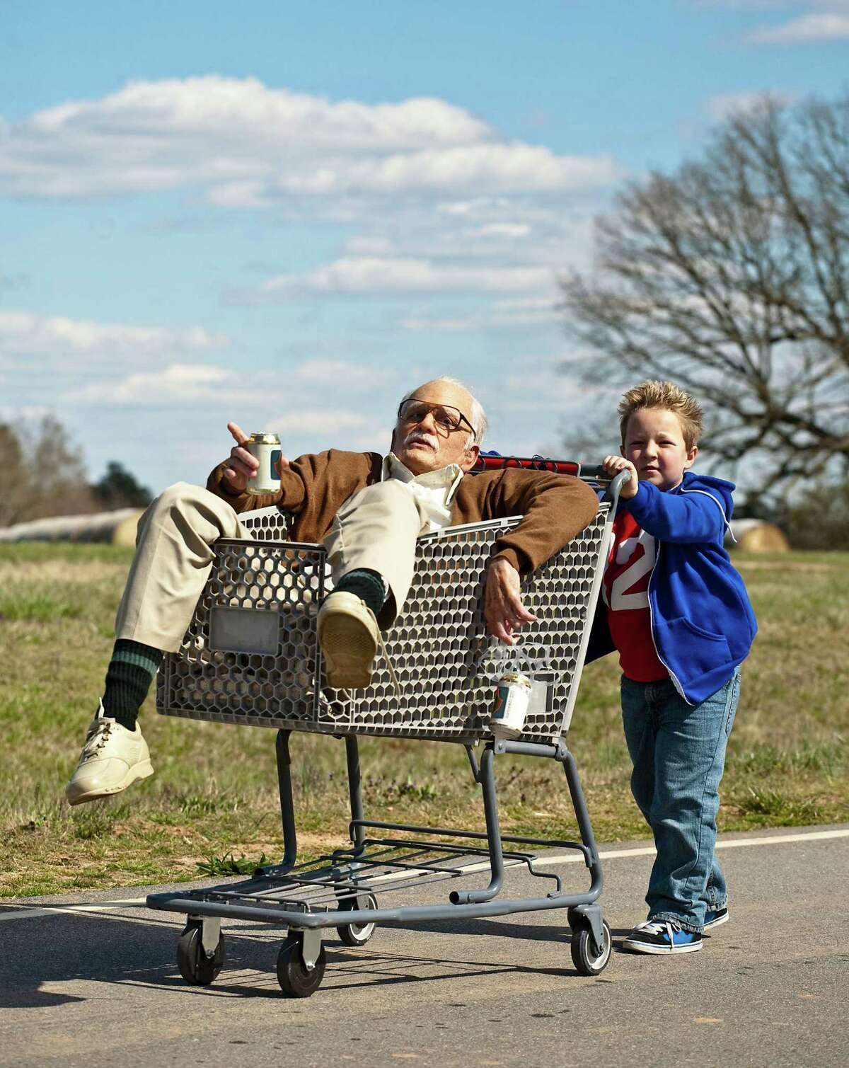 """Johnny Knoxville, left, as Irving Zisman and Jackson Nicoll as Billy in """"Jackass Presents: Bad Grandpa,"""""""