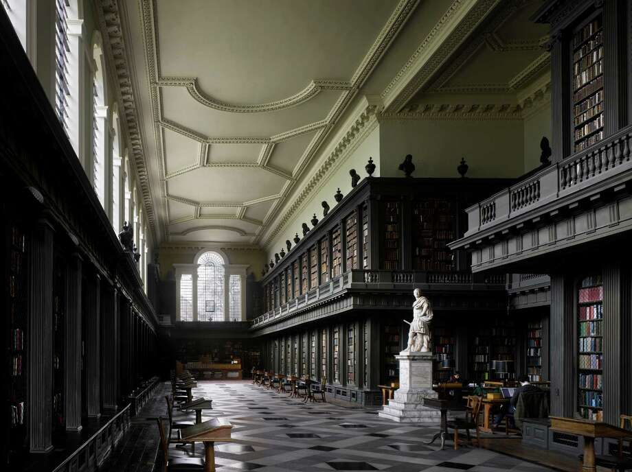 "The Codrington Library, 1751 All Souls College. Oxford, United Kingdom. Hawskmoor did not live to see the completion of the library, which was carried out by James Gibbs.From ""The Library: A World History"" by Cambridge University architectural historian James Campbell and photographer Will Pryce. Photo: Will Pryce / This picture can only be used with prior permission and/or agreement of fees with Will Pryce."