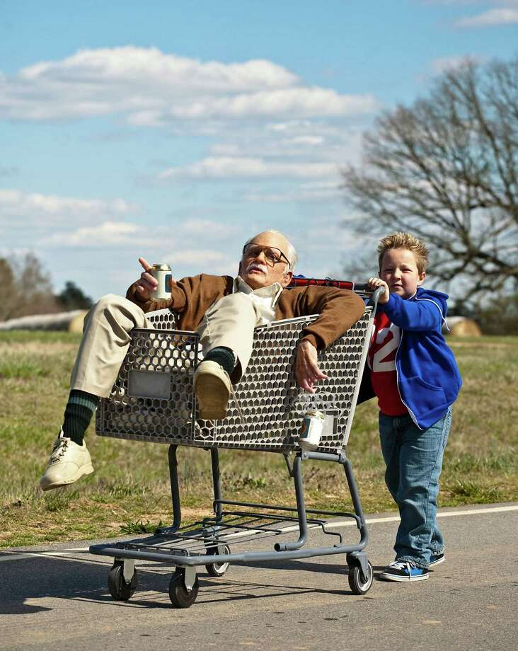 "This photo released by Paramount Pictures shows Johnny Knoxville, left, as Irving Zisman and Jackson Nicoll as Billy in ""Jackass Presents: Bad Grandpa,"" from Paramount Pictures and MTV Films. (AP Photo/Paramount Pictures, Sean Cliver) ORG XMIT: CAET251 Photo: Sean Cliver / Paramount Pictures"