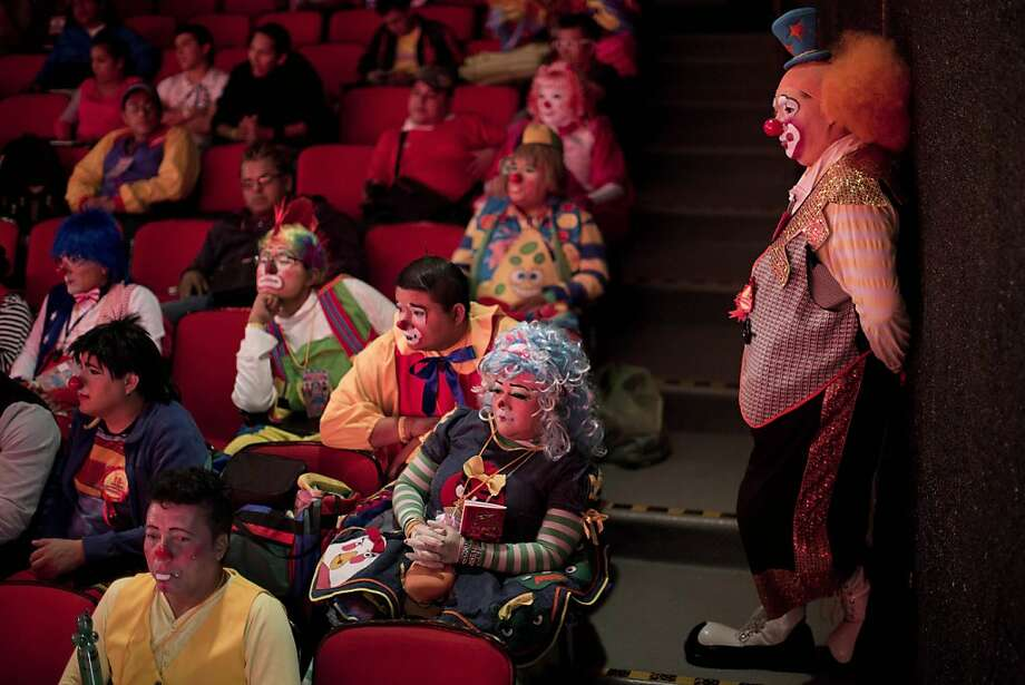 Will advanced flower squirting be on the final exam? Clowns take a class on how to be funnier at the 