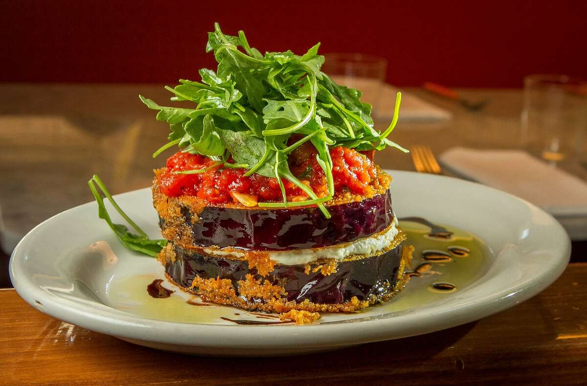 The Eggplant with Goat Cheese and Tomato Ragu at Ciccio in Yountville, Calif., is seen on Thursday, October 17th, 2013.