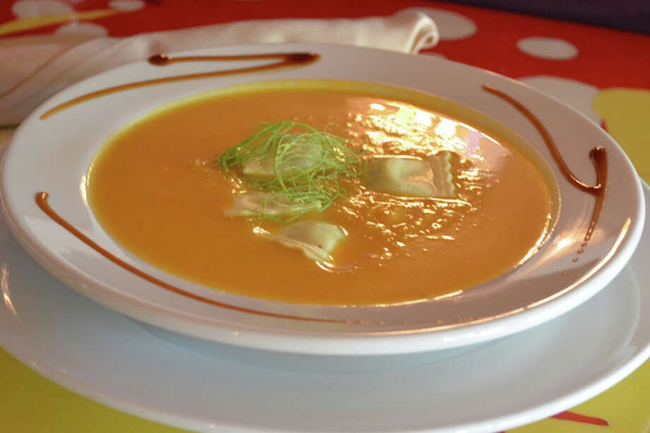 Pumpkin Soup with Ravioli is a seasonal offering at Salé Sucré. Photo: Courtesy Photo, Salé Sucré