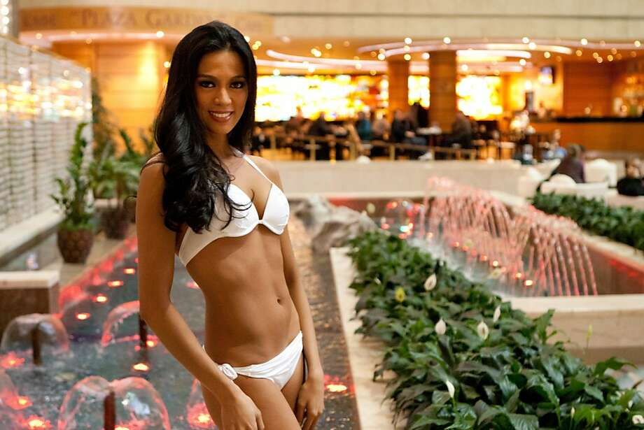 Ariella Arida, Miss Philippines 2013, poses at the Crowne Plaza Moscow World Trade Centre, on Thursday, Oct. 24, 2013, in Moscow. She will compete for the title of Miss Universe Saturday Nov. 9, 2013, in Moscow. Photo: Richard Salyer, Associated Press