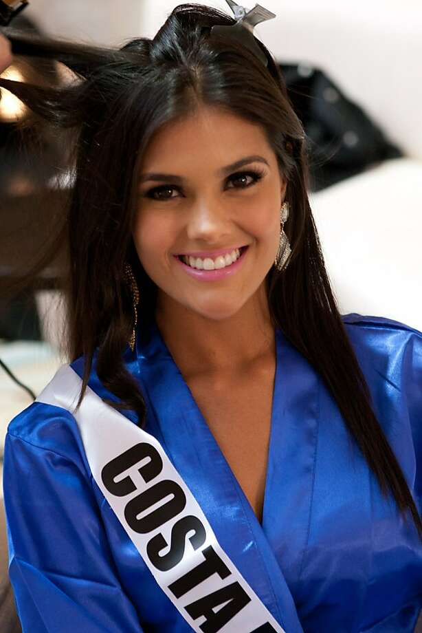Fabiana Granados, Miss Costa Rica 2013, is seen at registration and fittings on Wednesday, Oct. 23, 2013, in Moscow. Granados will compete for the title of Miss Universe Saturday, Nov. 9, 2013, in Moscow. Photo: Richard Salyer, Associated Press