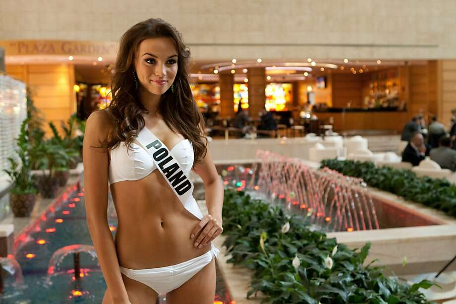 Paulina Krupinska, Miss Poland 2013, poses  at the Crowne Plaza Moscow World Trade Centre, on Wednesday Oct. 23, 2013, in Moscow.   Krupinska will compete for the Miss Universe title in Moscow, Saturday, Nov. 9, 2013. Photo: Richard Salyer, Associated Press
