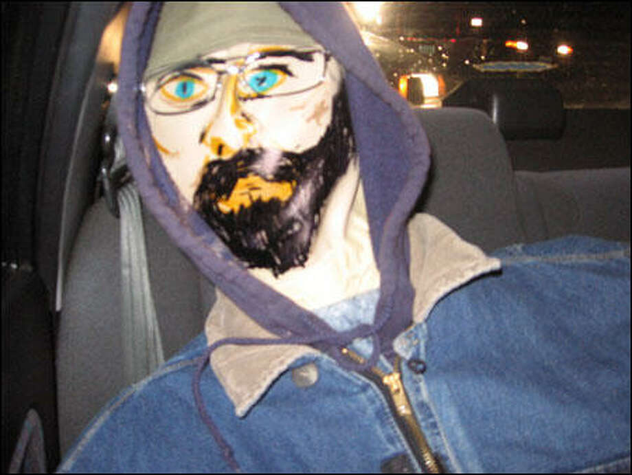This dummy gets points for alertness and hipster beard.   The driver had gone to great lengths to paint the face, but hadn't buckled in his friend in the back seat. That caused the dummy  to slump over, making  it appear that the driver was alone in the carpool lane of State Route 167.  He and his bearded companion were pulled over in 2008. Photo: Washington State Patrol
