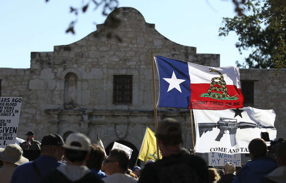 "Readers comment on the recent ""Come And Take It San Antonio"" rally, which was intended to draw attention to a right Texans already have — to carry long arms publicly so long as they do not do so in a menacing manner. Photo: Kin Man Hui / San Antonio Express-News"