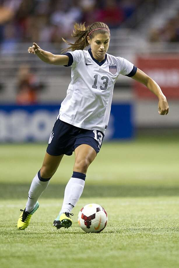 U.S. players such as Alex Morgan are household names to fans in this country and motivate the next generation of players. Photo: Cooper Neill, Getty Images