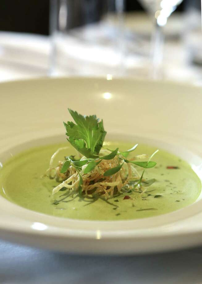 The Roasted Poblano-Asiago Cheese Soup at Sustenio at the Éilan Hotel has stood the test of time. Photo: Helen L. Montoya / San Antonio Express-News