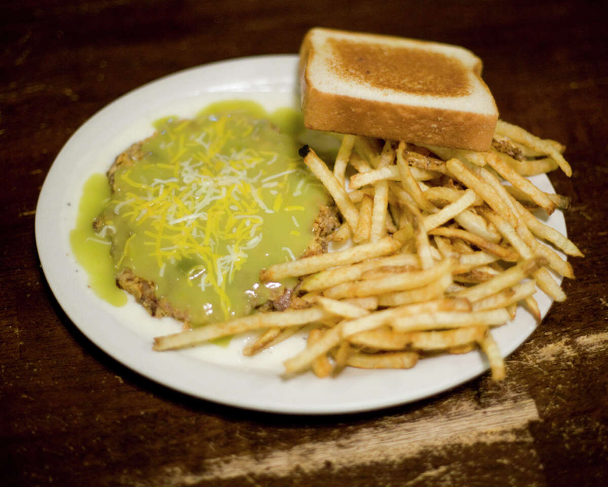 Amarillo: Green Chile Willy's Locally owned and nearly invisible at high speeds alongside I-27, this hidden gem may be tucked between Amarillo and Canyon, but there's no hiding the fact that its chicken-fried steak is the area's best. Whether ordering the Texas Traditional, Jalapeño Jack, or the popular green chile version it's named after, hungry diners know they're in for the crispiest, tastiest chicken-fried steak around. Other local favorites: Youngblood's Stockyard Café and Calico County Restaurant. Address: 13651 Interstate 27 in Amarillo Phone: 806-622 2200 Website: www.greenchilewillys.com - Amarillo Globe-News, amarillo.com