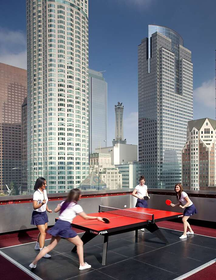 At The Standard Downtown LA, you never know where you'll find a pingpong table. Photo: Courtesy The Standard