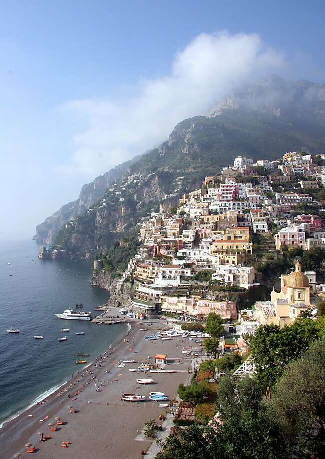"Positano's ""skyline"" looks as it did a century ago, as building codes have kept out modern construction. Photo: Pat O'Connor"
