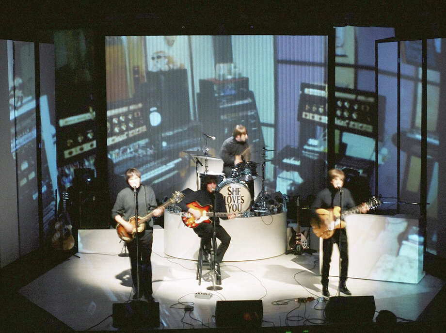 """She Loves You,"" a production honoring the 50th anniversary of The Beatles' appearance on the ""Ed Sullivan Show,"" will be at the Downtown Cabaret Theatre in Bridgeport on weekends, Nov. 1-17. Photo: Contributed Photo / Connecticut Post Contributed"