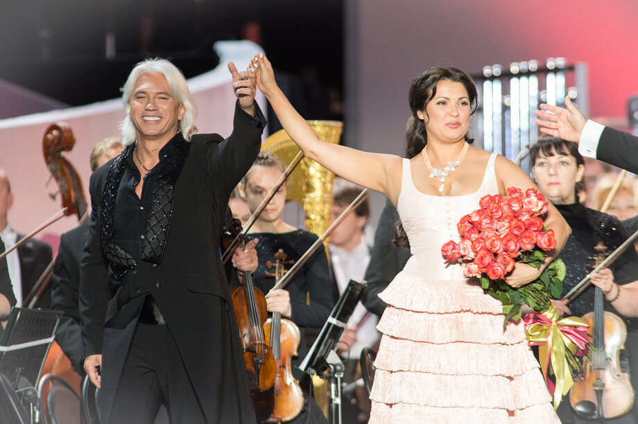 "Opera stars Anna Netrebko and Dmitri Hvorostovsky are featured in ""Live From Red Square"" in Moscow, a concert film which will be aired Sunday, Nov. 3, at Fairfield University. Photo: Contributed Photo / Connecticut Post Contributed"