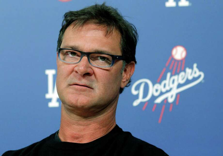 Los Angeles Dodgers Manager Don Mattingly speaks to the media in the Dodger Stadium in Los Angeles on Monday, Oct. 21, 2013. (AP Photo/Nick Ut) Photo: Nick Ut, STF / AP