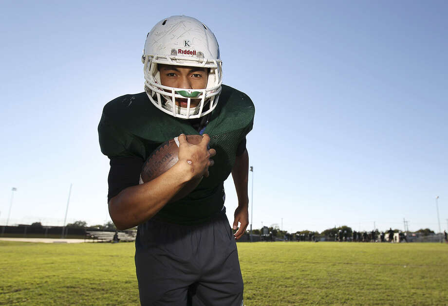 Senior running back Matthew Avalos led Kennedy to a District 29-4A upset of Harlandale and has the Rockets positioned to secure just their fourth playoff appearance in school history. Photo: Kin Man Hui / San Antonio Express-News