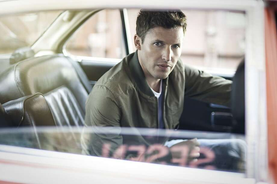 James Blunt having some trouble locating the steering wheel. Photo: Atlantic