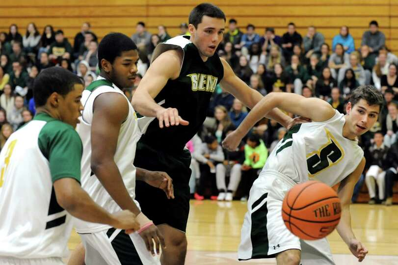 Siena men's basketball team play a scrimmage during Siena Madness on Thursday, Oct. 24, 2013, at Sie