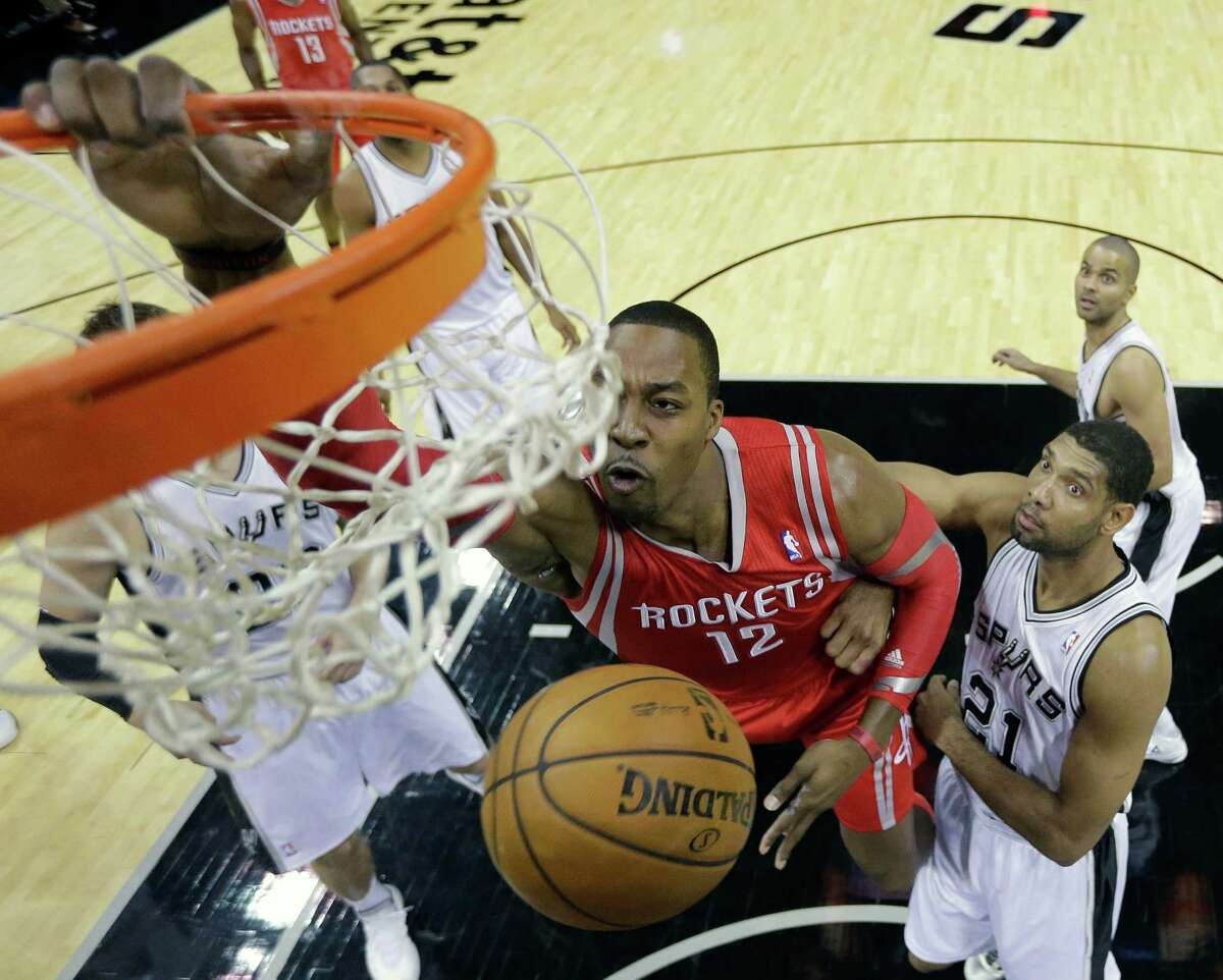 2013-14: Rockets sweep series For the only time during Gregg Popovich's tenure in San Antonio, the Rockets swept the four-game season series against the Spurs. But come the playoffs, Houston was bounced in the first round by Portland while San Antonio went on to win its fifth NBA championship.