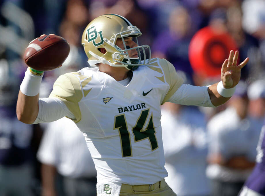 Baylor slinger Bryce Petty figures to pile up the points on Kansas once again. Photo: Orlin Wagner, AP / AP