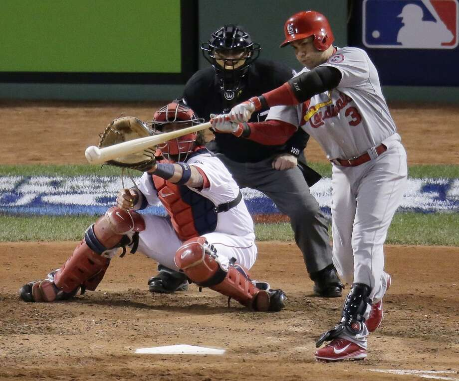 Carlos Beltran hits an RBI single during the seventh inning. Photo: Charlie Riedel, Associated Press