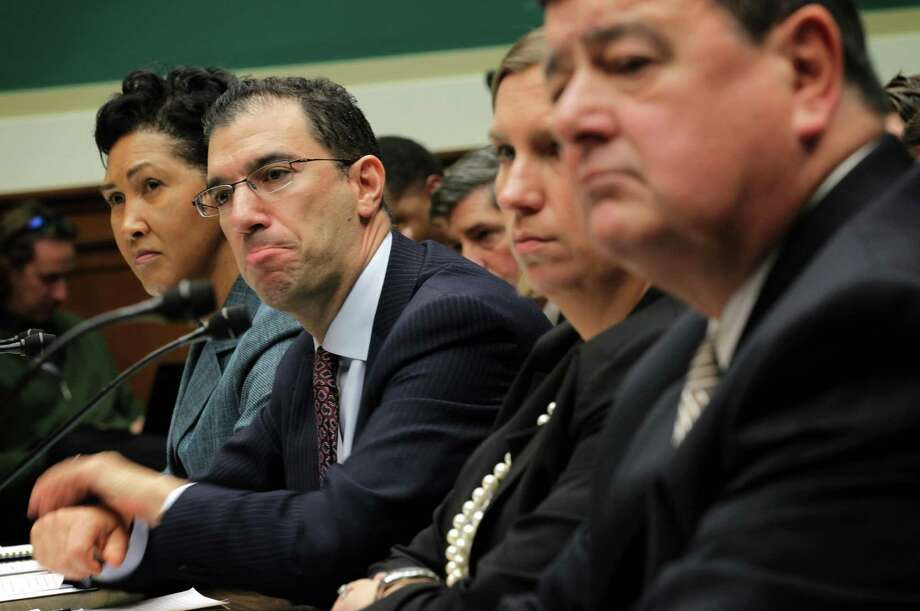 Developers who helped to build the website for people to buy health insurance under Obamacare testify Thursday during a hearing on Capitol Hill in Washington. Photo: Alex Wong / Getty Images